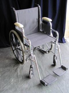 Wheelchair (d) Modern Black Nylon